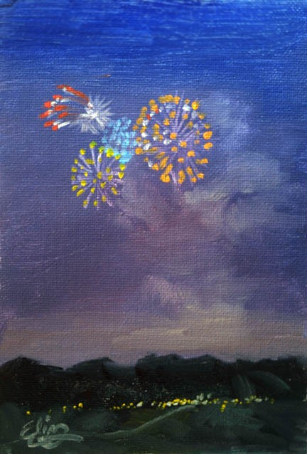 firework-in-oild-painting