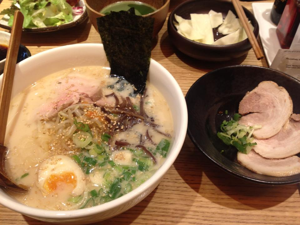 famous BBQ pork broth ramen - extra pork for me