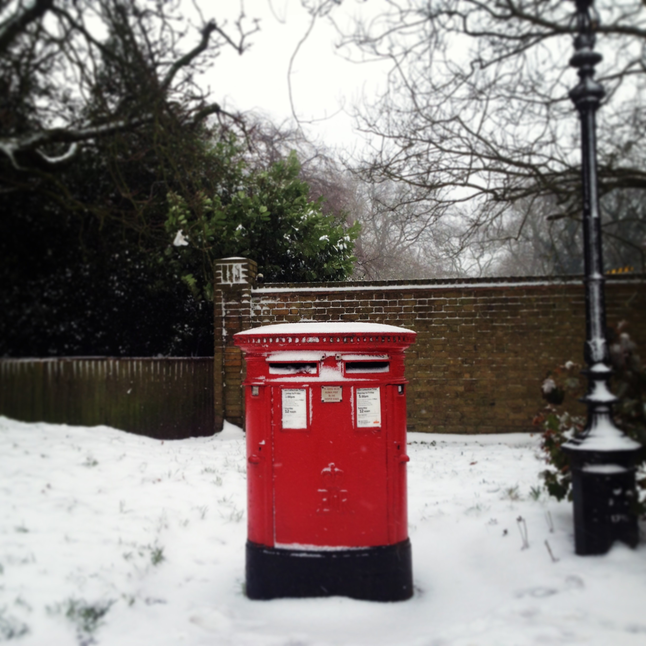 Post box in Hyde Park